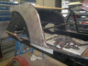 Morgan body work classic car restoration