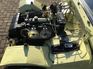 Austin-Healey Sprite Mk1 engine bay