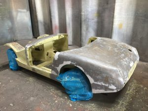 classic car paint stripping restoration