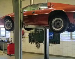 Classic car workshop