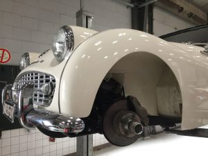 Triumph TR3A brake service Dandy Classics workshop