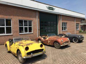 Triumph TR3 barn finds for sale