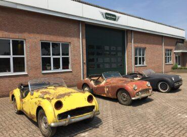 Neue Ankunft: 2 x Triumph TR3A Restaurationsobjekt