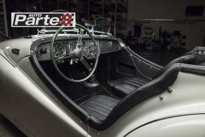 Triumph TR2 interior Brooklands screens