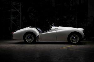 photoshoot restored Triumph TR2