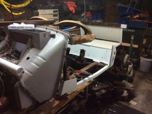 restauratie MG TD houtwerk body