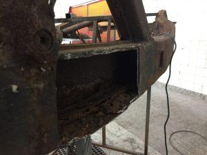 MGA chassis frame restoration