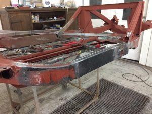 MGA chassis beam repair